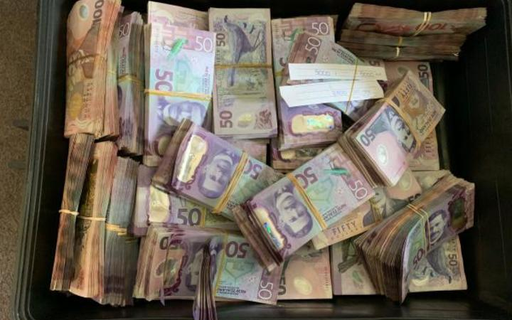 Police seized more than $1.5 million in cash.
