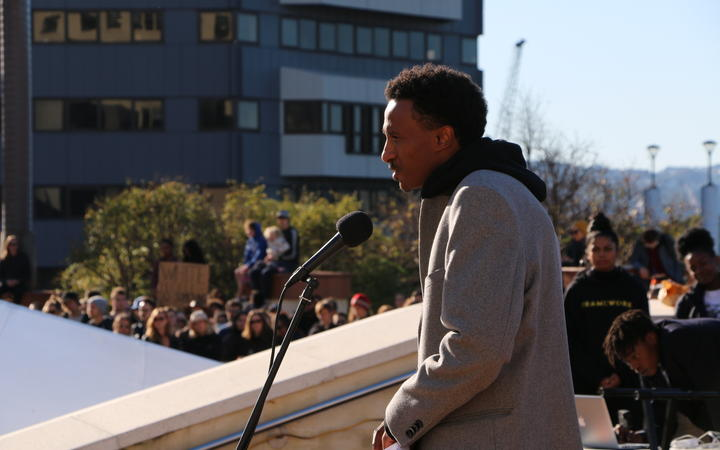 Wellington community advocate Guled Mire helped to organise a peaceful Black Lives Matter march in the capital that attracted thousands of protestors on 14 June, 2020.