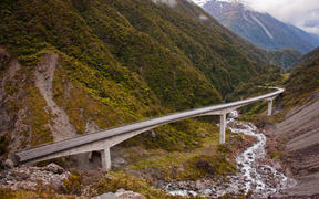 Otira Viaduct, State Highway 73, via Arthurs Pass.