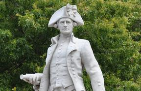 Statue of Captain James Cook in Christchurch.
