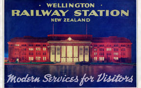 The cover of the souvenir booklet for the opening of Wellington Railway Station