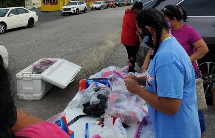 A glove and mask drive organised by the Marshallese community