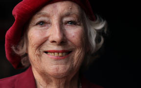 In this file photo taken on October 22, 2009 Forces sweetheart Dame Vera Lynn poses for photographs.