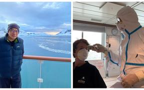 Alvin Ing & Jeff Green (in PPE gear)