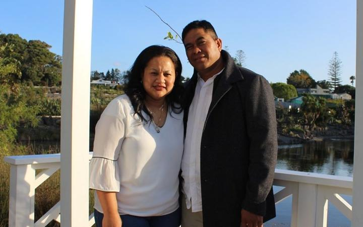 Shirley Farani and her husband Ailepata Ailepata