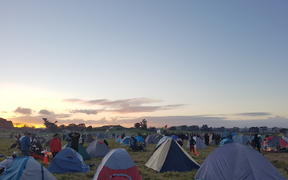 Ihumātao protesters camping overnight on the grounds on Saturday, 28 July.