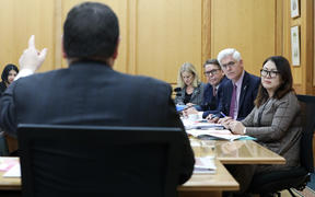 Grant Robertson addresses the Social Services Select Committee