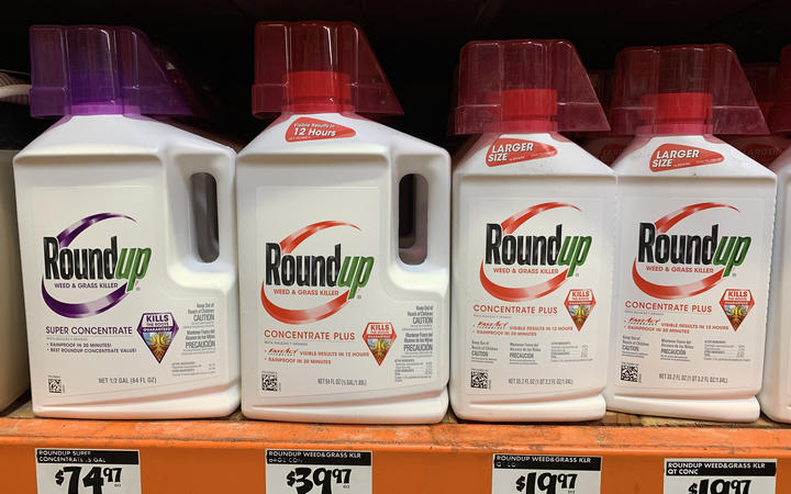 Roundup weed killer that is the subject of thousands of lawsuits in the US, is pictured on sale in Los Angeles, California on September 1, 2019.