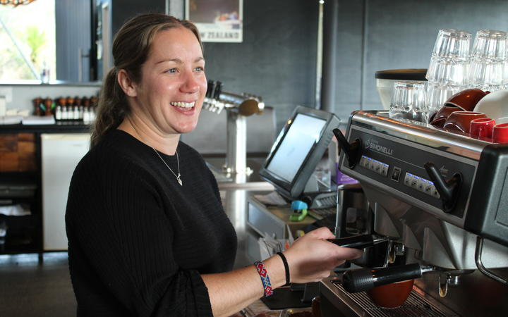 Abi Rawles, owner of the Huhu Café
