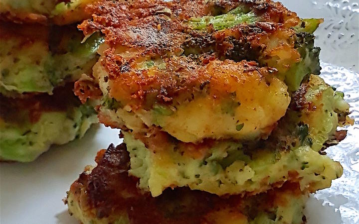 Crispy Broccoli & Potato Stacks