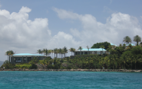Epstein's private island of Little St James, in the US Virgin Islands.