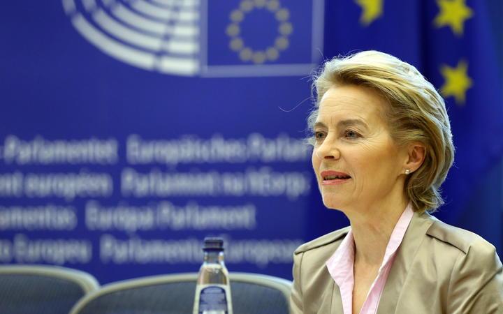BRUSSELS, BELGIUM - JUNE 23: European Commission President Ursula von der Leyen speaks during a European Parliament Group Heads Conference