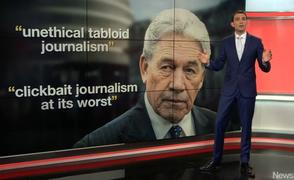 Winston Peters media criticism.