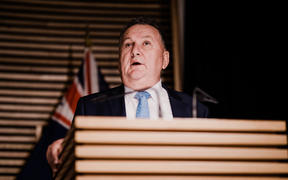 Infrastructure Minister Shane Jones revealing the details on the $3 billion infrastructure spend on 1 July, 2020.