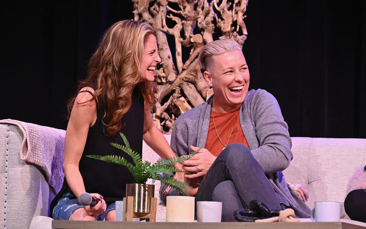 Glennon Doyle and Abby Wambach on stage during Together Live, in New York 2019.
