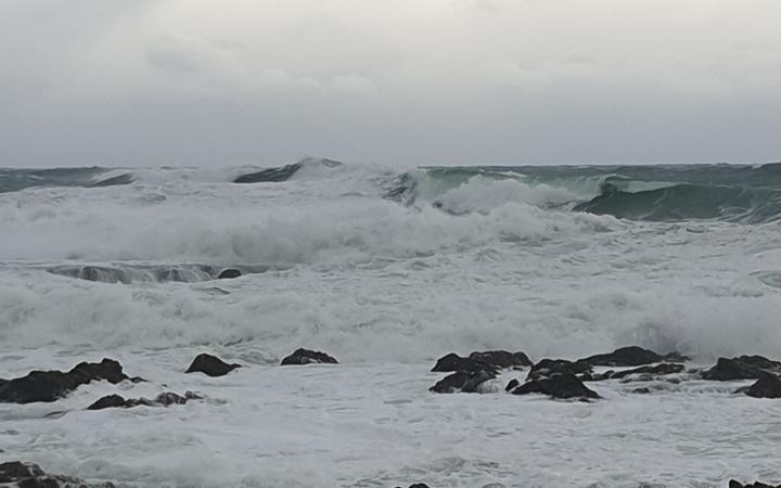 Swells on Wellington's south coast this afternoon.