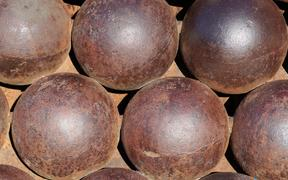 A stack of cannon balls.