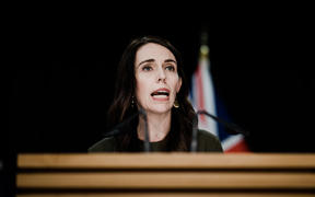Prime Minister Jacinda Ardern at a post-Cabinet media briefing. 22/06/20