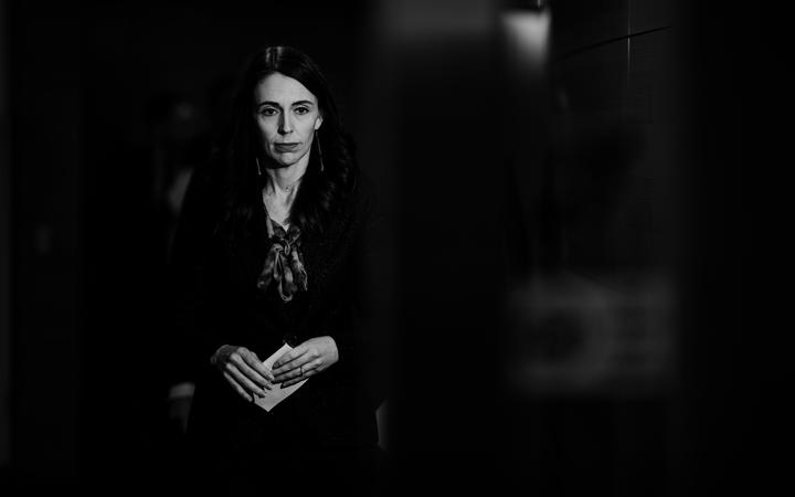 Prime Minister Jacinda Ardern attending a conference after David Clark announced he was resigning as health minister on 2 July, 2020.