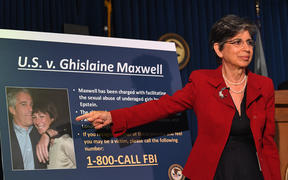 Acting US Attorney for the Southern District of New York, Audrey Strauss, announces charges against Ghislaine Maxwell at a media conference, 2 July 2020, press conference in New York City.
