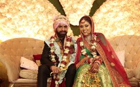 Gurpreet Kaur and her husband Parth Gandhi.