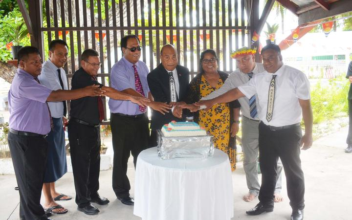 The newly sworn in Kiribati Cabinet