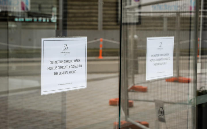 The Distinction Christchurch Hotel is being used as a one of the isolation facilities.