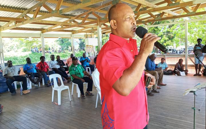 Bougainville presidential candidate Sione Paasia