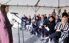 Prime Minister Jacinda Ardern announced the $761m package water package in Havelock North this morning.