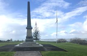The Stockade Hill War Memorial.