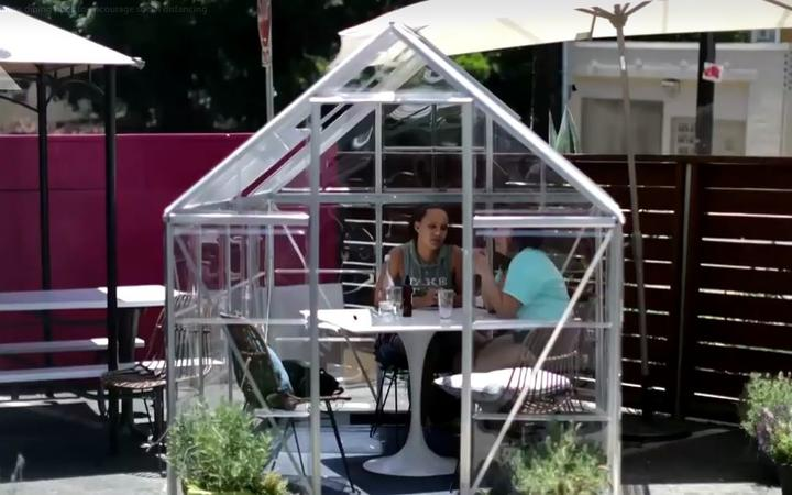 LA cafe introduces greenhouse dining pods to encourage social distancing