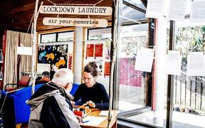 Lockdown Laundry creator, Katja Starke, types out a man's lockdown story.