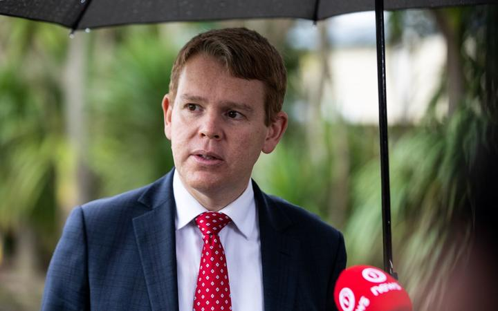 Chris Hipkins at a Covid-19 media briefing in Auckland on 14/7/2020