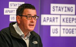 Australia's Victoria state premier Daniel Andrews speaks during a press conference in Melbourne on July 15, 2020, as the city battles fresh outbreaks of the COVID-19 coronavirus while under lockdown.