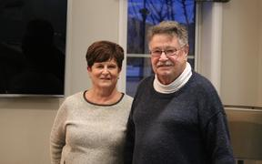 Faye and John McGill were among 50 residents who had to be evacuated after a gas explosion at a residential property at Marble Court, Christchurch.