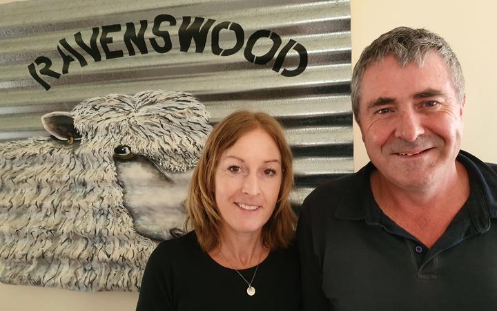 Fiona and John Robinson of Ravenswood English Leicester Stud