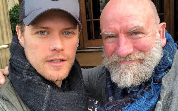 Clanlands authors and Outlander co-stars Sam Heighan (left) and Graham McTavish, who is based in Wellington, New Zealand.