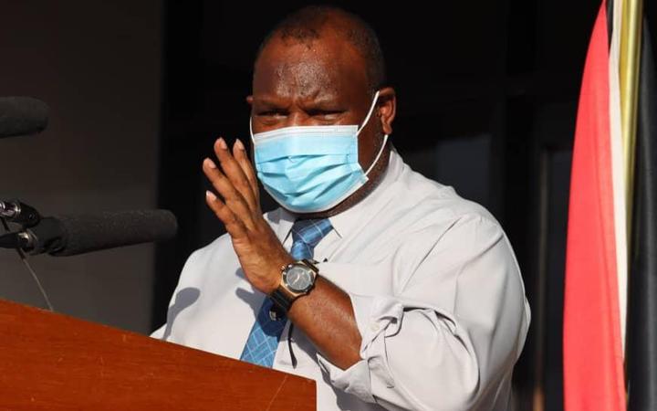 PNG's prime minister James Marape announces eight new Covid-19 cases in Port Moresby, urging all residents of the capital to wear masks. 21 July 2020.