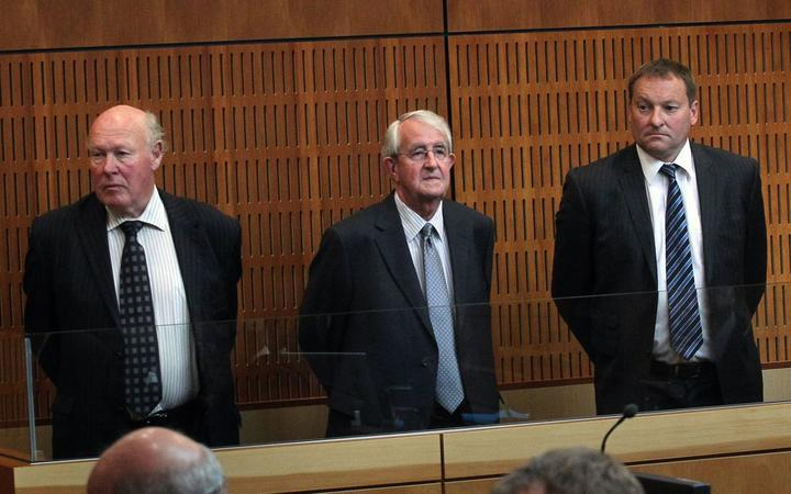 The three SCF accused after Allan Hubbard's death, Edward Sullivan, Robert White and Lachie McLeod