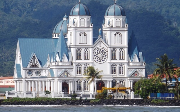 Catholic Cathedral in Apia in Samoa