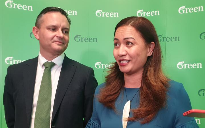 Green Party co-leaders James Shaw and Marama Davidson unveiling the party's agenda if they enter negotiations with Labour after the upcoming elections.