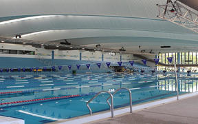 An artist's impression of the Olympic sized pool at the new regional aquatic centre in Hawke's Bay.