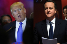 Donald Trump and David Cameron.