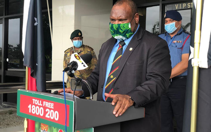 Papua New Guinea's Prime Minister James Marape announces a two-week lockdown in the capital Port Moresby amid a surge in covid-19 cases, 27 July 2020.