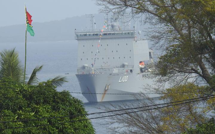 An Australian vessel in Port Vila