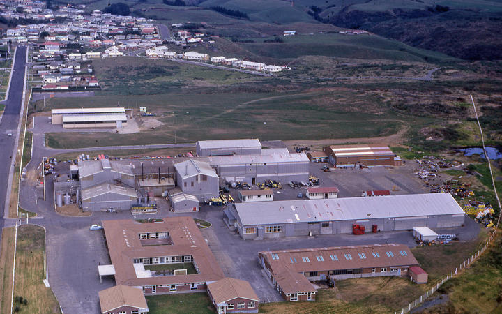 The Paritutu agrochemical plant in 1968