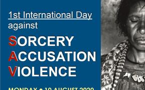 Poster promoting International Day Against Sorcery Accusation Violence