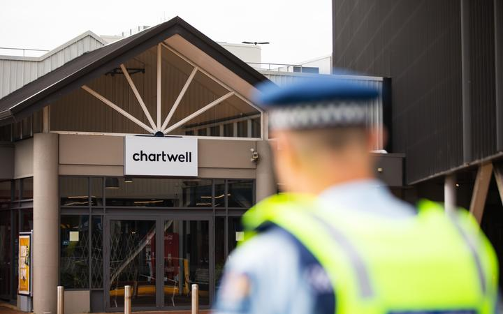 Police teams cordoned off the area near Chartwell Mall in Hamilton after reports of possible homemade explosives on 6 August, 2020.