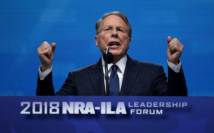 DALLAS, TX - MAY 04: NRA Executive Vice President, Wayne LaPierre speaks at the NRA-ILA Leadership Forum during the NRA Annual Meeting & Exhibits at the Kay Bailey Hutchison Convention Center on May 4, 2018 in Dallas, Texas.