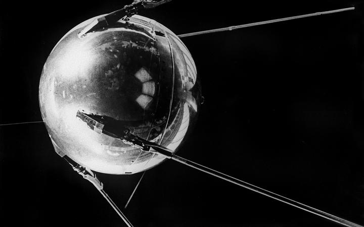 S picture of the world's first artificial satellite Sputnik I, launched by the Soviet Union from the Baikonur cosmodrome in Kazakhstan, 04 October 1957.